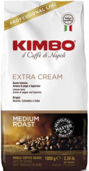 1kg Kimbo Espresso Bar Extra Cream Coffee Beans